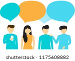 people's communication with... | Shutterstock .eps vector #1175608882