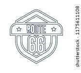 route 66 icon vector isolated... | Shutterstock .eps vector #1175611108