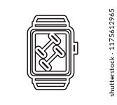 smartwatch icon vector isolated ... | Shutterstock .eps vector #1175612965