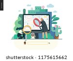 search page   modern flat... | Shutterstock .eps vector #1175615662