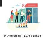 modern flat vector illustration ... | Shutterstock .eps vector #1175615695