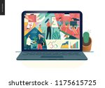 about company  office life ... | Shutterstock .eps vector #1175615725