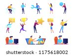 businessmen and it specialists... | Shutterstock .eps vector #1175618002