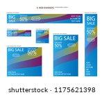 six web banners standard sizes... | Shutterstock .eps vector #1175621398
