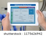 electronic medical record... | Shutterstock . vector #1175626942