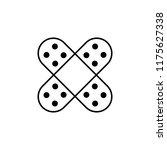 plaster icon. element of... | Shutterstock .eps vector #1175627338
