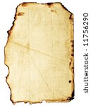 Small photo of Old, fine-textured grunge burnt paper with dark adust borders. Isolated on white with clipping paths
