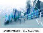 businessman and hong kong city... | Shutterstock . vector #1175633908