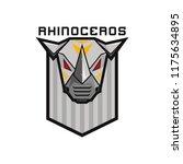 metal robot head rhinoceros... | Shutterstock .eps vector #1175634895