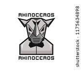 metal robot rhinoceros with... | Shutterstock .eps vector #1175634898