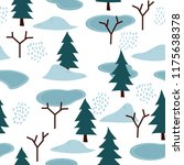 winter theme seamless pattern... | Shutterstock .eps vector #1175638378