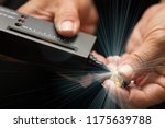 golden ring in hands ready to...   Shutterstock . vector #1175639788