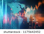 financial stock market graph on ... | Shutterstock . vector #1175642452