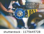 the mechanic hand go kart... | Shutterstock . vector #1175645728