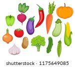 vegetable set. vector... | Shutterstock .eps vector #1175649085
