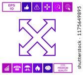 extend  resize  enlarge line... | Shutterstock .eps vector #1175649895