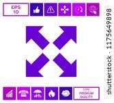 extend  resize icon. cross... | Shutterstock .eps vector #1175649898