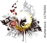 floral abstract banner | Shutterstock . vector #11756503