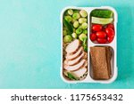 healthy green meal prep... | Shutterstock . vector #1175653432