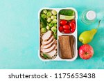 healthy green meal prep... | Shutterstock . vector #1175653438