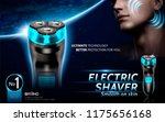 electric shaver ads with... | Shutterstock .eps vector #1175656168