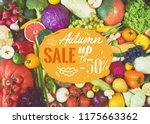 assortment of fresh fruits and...   Shutterstock . vector #1175663362