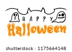 happy halloween vector... | Shutterstock .eps vector #1175664148
