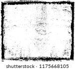 grunge distressed frame.vector... | Shutterstock .eps vector #1175668105