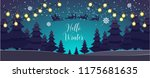 santa claus with deer flying... | Shutterstock .eps vector #1175681635