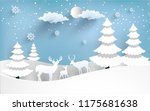 vector illustration of the snow ... | Shutterstock .eps vector #1175681638