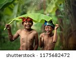 indonesian asian children wear... | Shutterstock . vector #1175682472