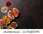 brushetta or traditional... | Shutterstock . vector #1175685595