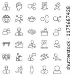 thin line vector icon set  ... | Shutterstock .eps vector #1175687428