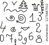 different symbols. numerals | Shutterstock .eps vector #1175687512