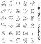 thin line vector icon set  ...   Shutterstock .eps vector #1175687818