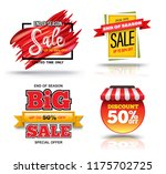 sale banner set for promotion... | Shutterstock .eps vector #1175702725
