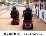 couple elderly people ride... | Shutterstock . vector #1175710978
