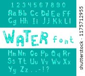 english alphabet font design.... | Shutterstock . vector #1175712955