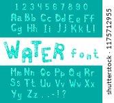 english alphabet font design.... | Shutterstock . vector #1175712955
