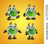 clock mascot | Shutterstock .eps vector #117571552