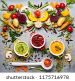 concept of healthy vegetable... | Shutterstock . vector #1175716978