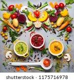 concept of healthy vegetable... | Shutterstock . vector #1175716978