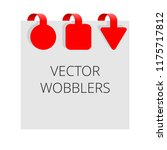 red wobblers   isolated vector... | Shutterstock .eps vector #1175717812