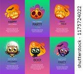 halloween vertical greeting...   Shutterstock .eps vector #1175724022