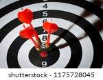 dart arrow hitting in the... | Shutterstock . vector #1175728045