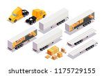 set element cargo transport.... | Shutterstock .eps vector #1175729155