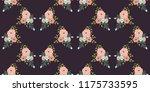 seamless vector ornamental... | Shutterstock .eps vector #1175733595