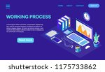 isometric workplace for...   Shutterstock .eps vector #1175733862