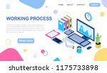 isometric workplace for... | Shutterstock .eps vector #1175733898