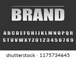 font of silvery color  silvery...   Shutterstock .eps vector #1175734645